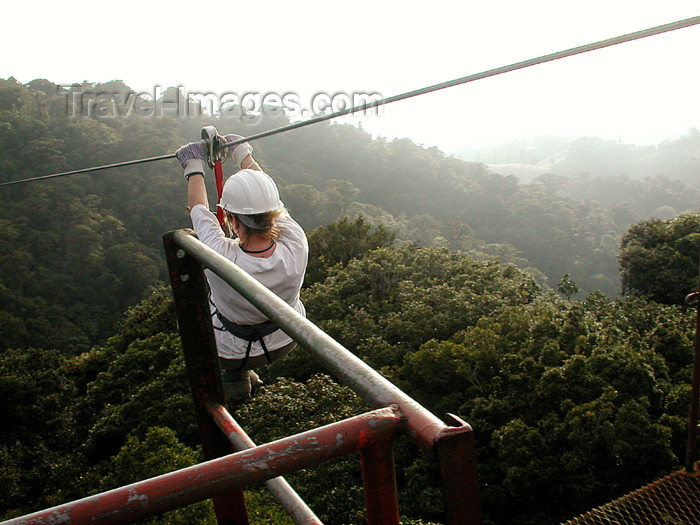 costa-rica63: Monteverde, Costa Rica: Sky trekking - rain forest canopy tour - photo by B.Cain - (c) Travel-Images.com - Stock Photography agency - Image Bank