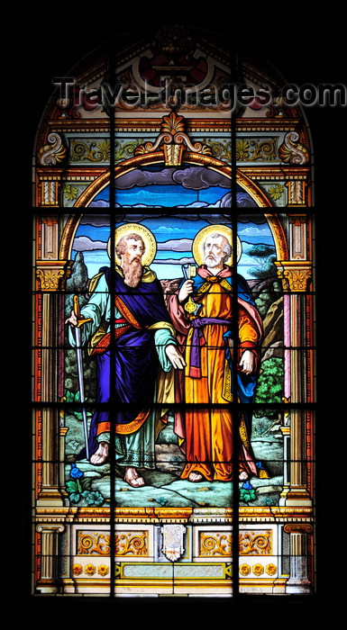 costa-rica76: San José, Costa Rica: Metropolitan Cathedral - stained glass - Saints Peter and Paul - photo by M.Torres - (c) Travel-Images.com - Stock Photography agency - Image Bank