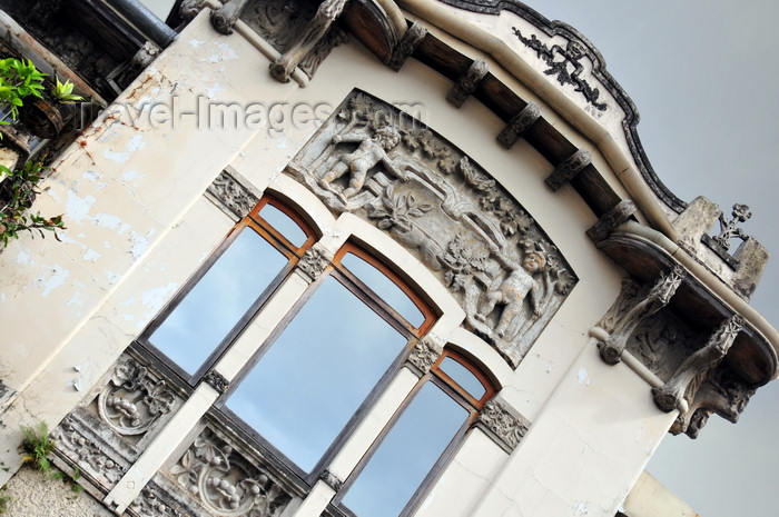 costa-rica80: San José, Costa Rica: Casa Jiménez de la Guardia - Art Nouveau decoration - designed by Manuel Francisco Jiménez Ortiz - Calle 5 - photo by M.Torres - (c) Travel-Images.com - Stock Photography agency - Image Bank