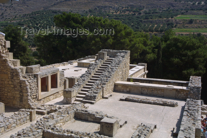 crete102: Crete, Greece - Knossos palace (Heraklion prefecture): Minoan ruins (photo by A.Stepanenko) - (c) Travel-Images.com - Stock Photography agency - Image Bank