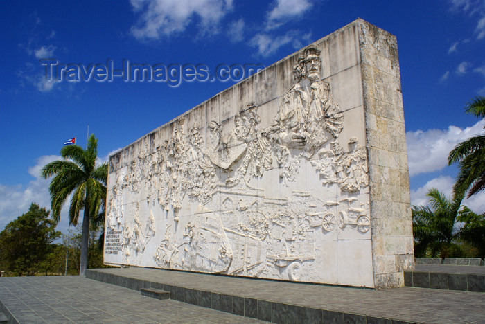"cuba138: Santa Clara, Villa Clara province, Cuba: bas-relief wall - Monument and Mausoleum of Ernesto ""Che"" Guevara - photo by A.Ferrari - (c) Travel-Images.com - Stock Photography agency - Image Bank"