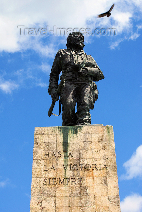"cuba142: Santa Clara, Villa Clara province, Cuba: Che's statue and motto - Hasta la victoria siempre - Monument and Mausoleum of Ernesto ""Che"" Guevara by sculptor José Delarra - photo by A.Ferrari - (c) Travel-Images.com - Stock Photography agency - Image Bank"