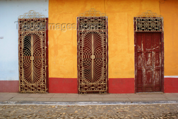 cuba22: Trinidad / TND, Cuba: colonial street - doors - photo by A.Ferrari - (c) Travel-Images.com - Stock Photography agency - Image Bank