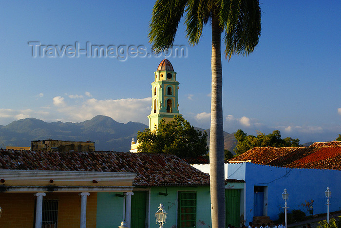cuba29: Cuba - Trinidad - Sancti Spíritus province: the town and the mountains - bell-tower of the former convent of San Fransisco de Asis - photo by A.Ferrari - (c) Travel-Images.com - Stock Photography agency - Image Bank