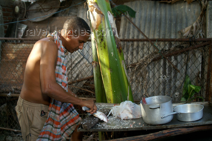 cuba37: Cuba - Guardalavaca - cooking fish - photo by G.Friedman - (c) Travel-Images.com - Stock Photography agency - Image Bank