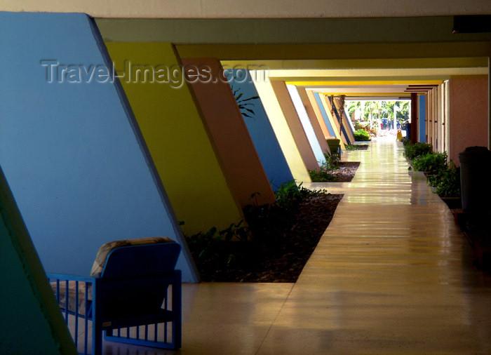 cuba44: Cuba - Guardalavaca - outdoor hallway at a resort - photo by G.Friedman - (c) Travel-Images.com - Stock Photography agency - Image Bank