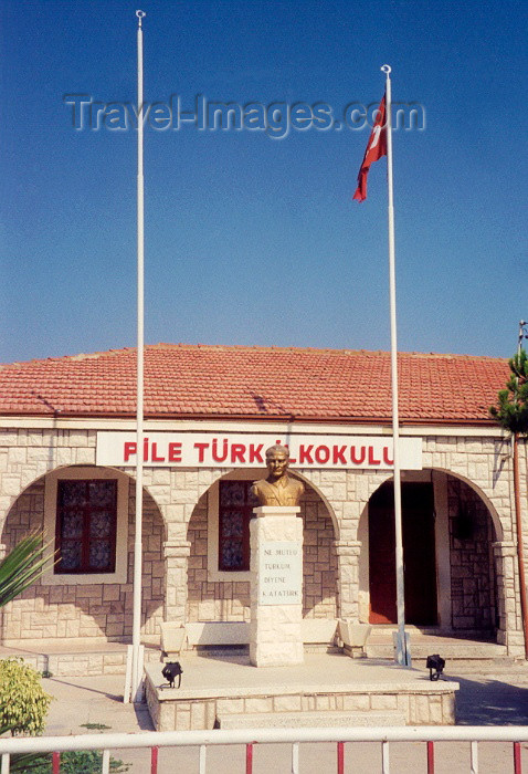 cyprus10: Cyprus - Pyla / Pile - Larnaca district: Turkish primary school - Mustapha Kemal in the wrong place - photo by Miguel Torres - (c) Travel-Images.com - Stock Photography agency - Image Bank
