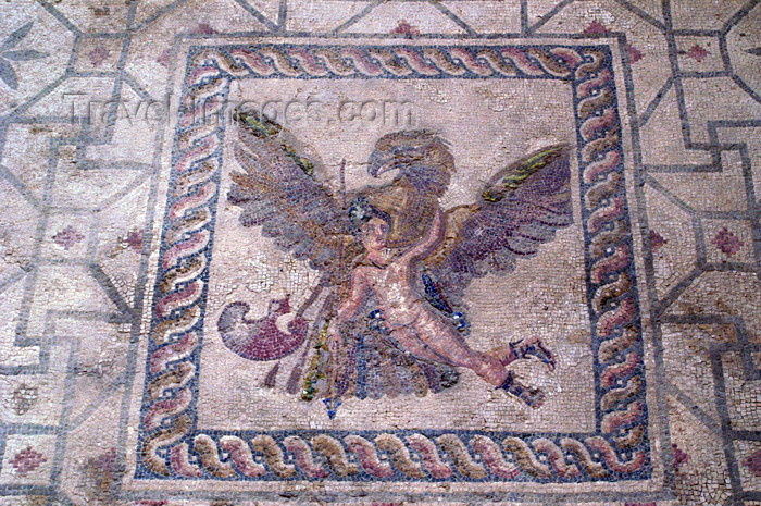 cyprus105: Paphos, Cyprus: Roman mosaic in the house of Dionysos - flying - photo by A.Ferrari - (c) Travel-Images.com - Stock Photography agency - Image Bank