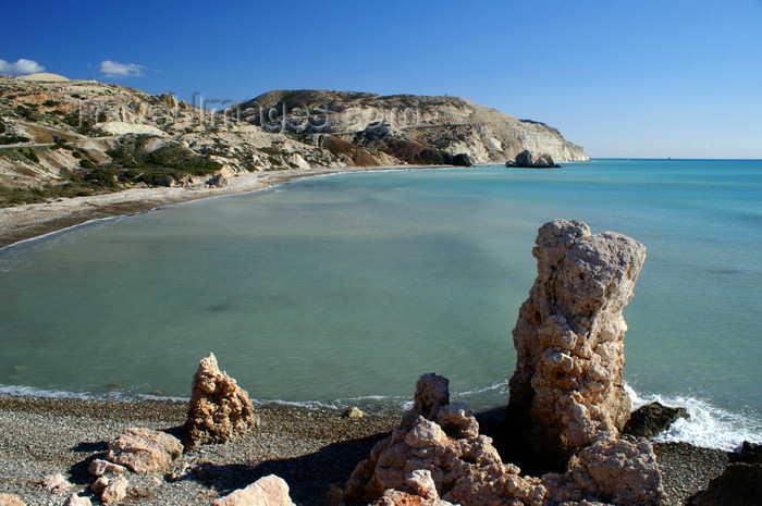 cyprus117: Petra Tou Romiou - Paphos district, Cyprus: the beach - photo by A.Ferrari - (c) Travel-Images.com - Stock Photography agency - Image Bank