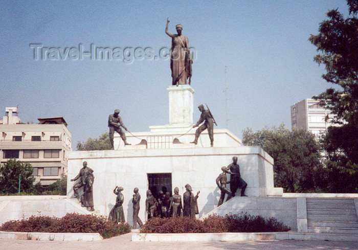 cyprus12: Cyprus - Nicosia / Lefkosa / NMK : walking free - monument on Podocataro bastion - Leoforos / Av. Nikiforou Foka st. - photo by Miguel Torres - (c) Travel-Images.com - Stock Photography agency - Image Bank