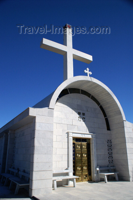 cyprus132: Pedhoulas - Troodos mountains, Nicosia district, Cyprus: modern church - entrance - photo by A.Ferrari - (c) Travel-Images.com - Stock Photography agency - Image Bank