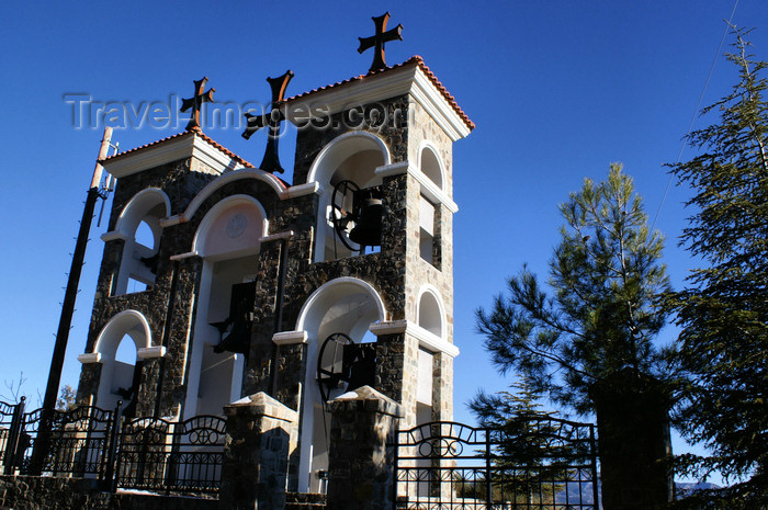 cyprus137: Kykkos Monastery - Troodos mountains, Nicosia district, Cyprus: clock towers - photo by A.Ferrari - (c) Travel-Images.com - Stock Photography agency - Image Bank