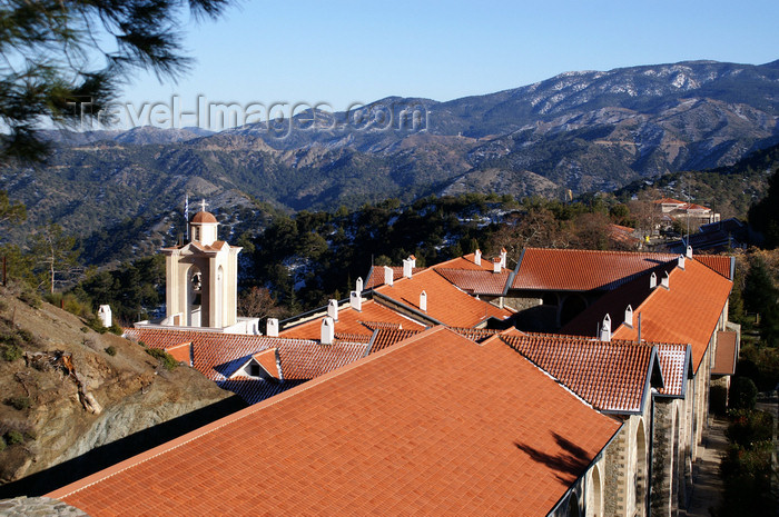 cyprus138: Kykkos Monastery - Troodos mountains, Nicosia district, Cyprus: red roofs - photo by A.Ferrari - (c) Travel-Images.com - Stock Photography agency - Image Bank