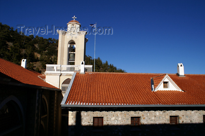cyprus141: Kykkos Monastery - Troodos mountains, Nicosia district, Cyprus: courtyard and bell tower - photo by A.Ferrari - (c) Travel-Images.com - Stock Photography agency - Image Bank