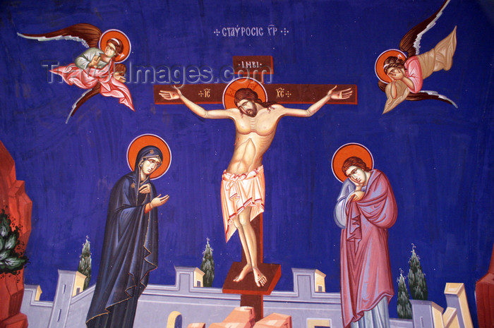 cyprus150: Kykkos Monastery - Troodos mountains, Nicosia district, Cyprus: Christ on the cross - photo by A.Ferrari - (c) Travel-Images.com - Stock Photography agency - Image Bank