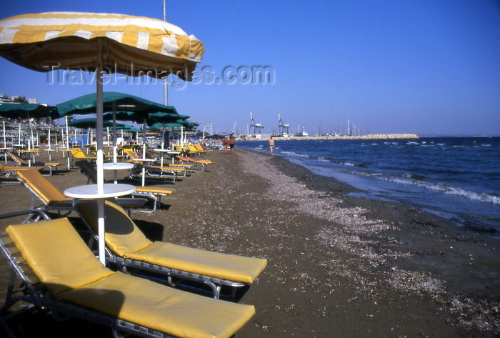 cyprus31: Cyprus  - Aiya Napa - Famagusta district -  beach chairs - photo by Tony Brown - (c) Travel-Images.com - Stock Photography agency - Image Bank