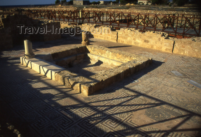 cyprus43: Cyprus  - Paphos - ancient mosaics  - photo by Tony Brown - (c) Travel-Images.com - Stock Photography agency - Image Bank