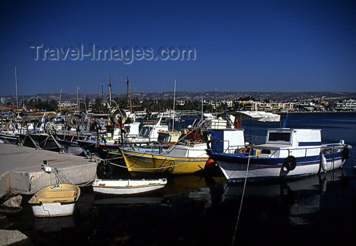 cyprus46: Cyprus  - Paphos - fishing boats  - photo by Tony Brown - (c) Travel-Images.com - Stock Photography agency - Image Bank
