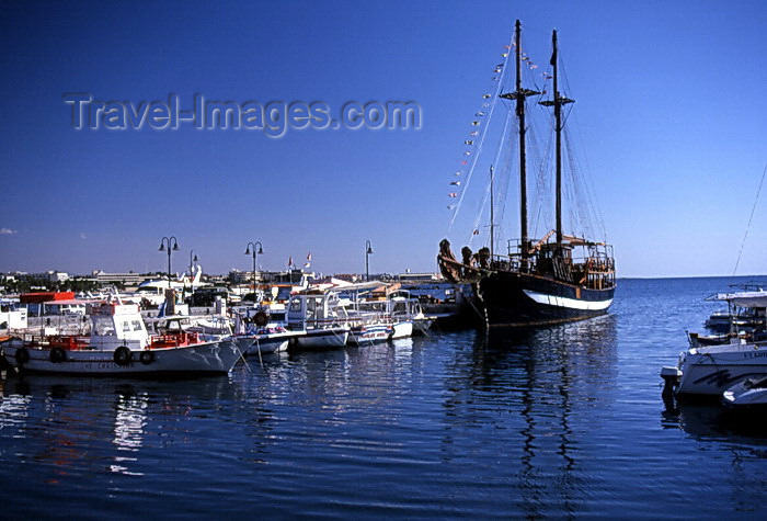 cyprus48: Cyprus  - Paphos - marina - photo by Tony Brown - (c) Travel-Images.com - Stock Photography agency - Image Bank