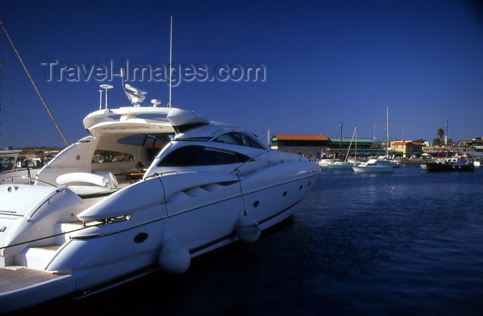 cyprus51: Cyprus  - Paphos - yacht in the marina - photo by Tony Brown - (c) Travel-Images.com - Stock Photography agency - Image Bank