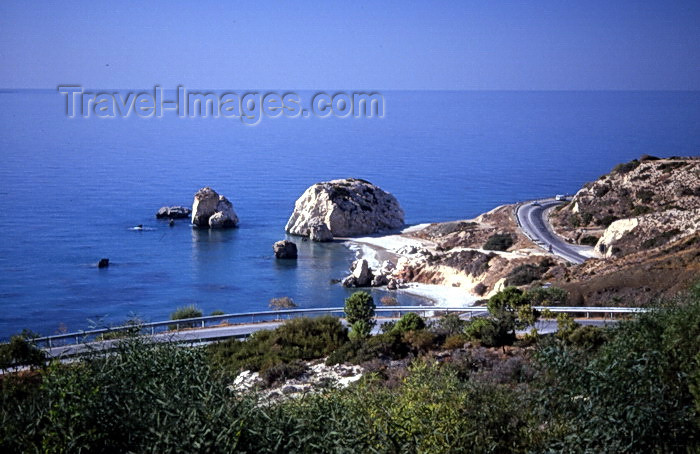 cyprus53: Cyprus  - Petra Tou Romiou - Paphos district - road and birthplace of Aphrodite - photo by Tony Brown - (c) Travel-Images.com - Stock Photography agency - Image Bank