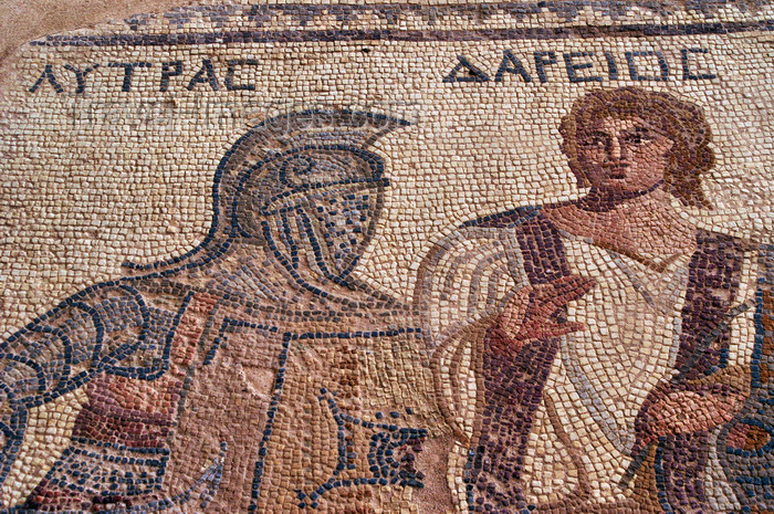 cyprus72: Kourion - Limassol district, Cyprus: Achilles mosaic - photo by A.Ferrari - (c) Travel-Images.com - Stock Photography agency - Image Bank