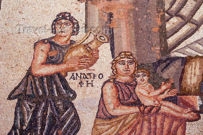 cyprus92: Paphos, Cyprus: first bath of Achilles - detail - Roman mosaics in the house of Theseus - photo by A.Ferrari - (c) Travel-Images.com - Stock Photography agency - Image Bank