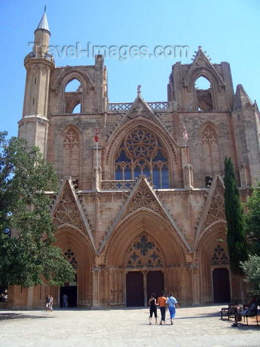 cyprusn19: North Cyprus - Famagusta / Gazimagusa: Lala Mustafa Pasa Mosque - formerly St. Nicholas Cathedral - façade (photo by Rashad Khalilov) - (c) Travel-Images.com - Stock Photography agency - Image Bank