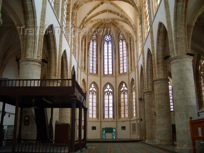 cyprusn20: Cyprus - Famagusta / Gazimagusa: Lala Mustafa Pasa Mosque - formerly St. Nicholas Cathedral - inside (photo by Rashad Khalilov) (c) Travel-Images.com - Stock Photography agency - Image Bank