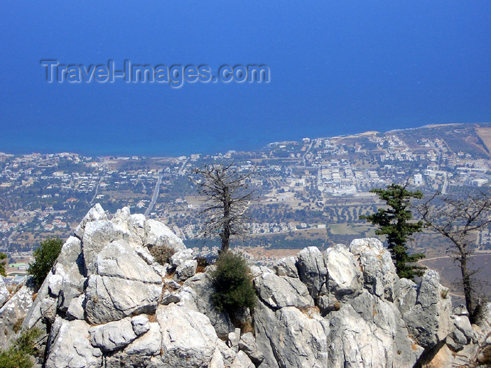 cyprusn31: Cyprus - Kyrenia / Girne: seen from St Hilarion castle (photo by Rashad Khalilov) - (c) Travel-Images.com - Stock Photography agency - Image Bank