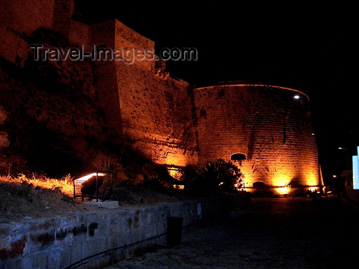 cyprusn34: North Cyprus - Kyrenia / Girne: the castle at night (photo by Rashad Khalilov) - (c) Travel-Images.com - Stock Photography agency - Image Bank