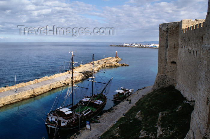 cyprusn45: Kyrenia, North Cyprus: view over the medieval harbour from the castle's ramparts - photo by A.Ferrari - (c) Travel-Images.com - Stock Photography agency - Image Bank