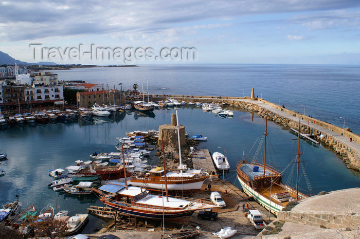 cyprusn46: Kyrenia, North Cyprus: view over the medieval harbour from the castle - photo by A.Ferrari - (c) Travel-Images.com - Stock Photography agency - Image Bank