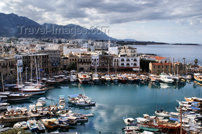 cyprusn47: Kyrenia, North Cyprus: yachts and fishing boats - view over the medieval harbour from the castle - photo by A.Ferrari - (c) Travel-Images.com - Stock Photography agency - Image Bank
