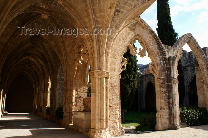 cyprusn63: Bellapais, Kyrenia district, North Cyprus: Bellapais abbey - along the arcade - photo by A.Ferrari - (c) Travel-Images.com - Stock Photography agency - Image Bank