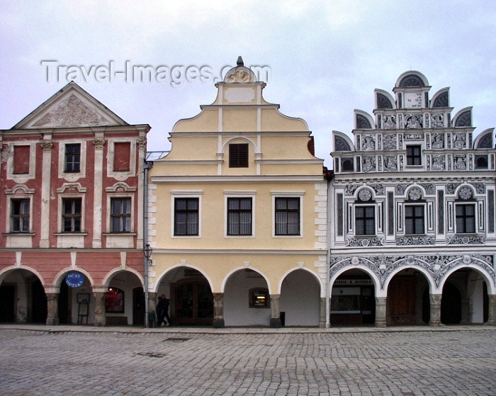 czech118: Czech Republic - Telè (Southern Moravia - Jihomoravský - Jihlavský kraj): 16th century façades - photo by J.Kaman - (c) Travel-Images.com - Stock Photography agency - Image Bank