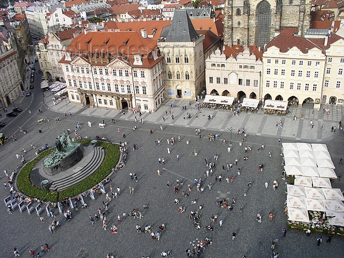 czech183: Czech Republic - Prague: view from the Old Town Hall - Old Town square - photo by J.Kaman - (c) Travel-Images.com - Stock Photography agency - Image Bank