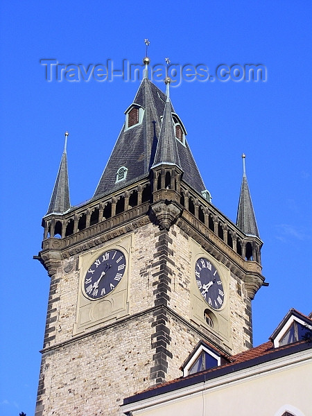 czech185: Czech Republic - Prague: tower of the Old Town Hall - photo by J.Kaman - (c) Travel-Images.com - Stock Photography agency - Image Bank