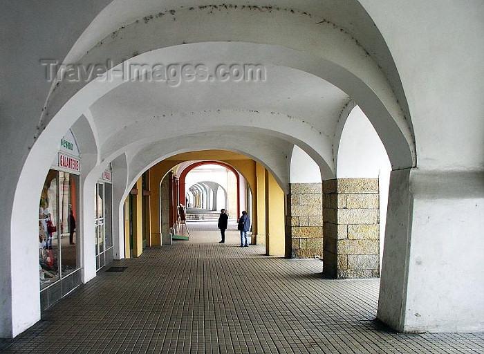 czech222: Czech Republic - Hradec Kralove: arcade - photo by J.Kaman - (c) Travel-Images.com - Stock Photography agency - Image Bank