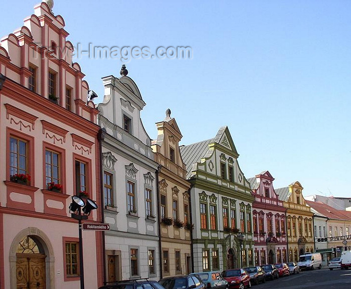 czech224: Czech Republic - Hradec Kralove: colorful houses on the main square - photo by J.Kaman - (c) Travel-Images.com - Stock Photography agency - Image Bank