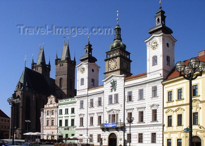 czech227: Czech Republic - Hradec Králové: Town hall and the Cathedral of the Holy Ghost / Radnice - photo by J.Kaman - (c) Travel-Images.com - Stock Photography agency - Image Bank