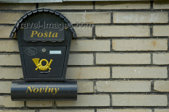 czech363: Czech Republic - Kromeriz / Kremsier - Zlin region, southeastern Moravia: Czech post box (photo by P.Gustafson) - (c) Travel-Images.com - Stock Photography agency - Image Bank