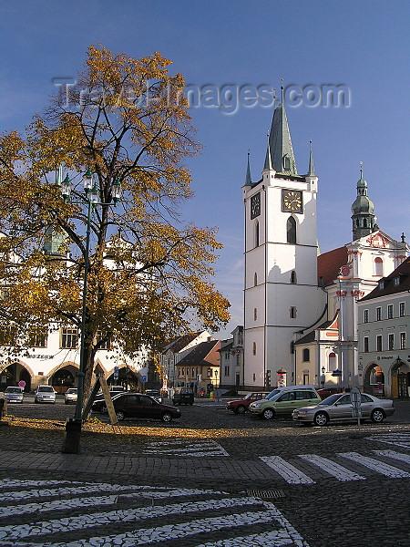 czech375: Czech Republic - Litomerice / Leitmeritz - Ústí nad Labem Region (Northern Bohemia): church square - photo by J.Kaman - (c) Travel-Images.com - Stock Photography agency - Image Bank