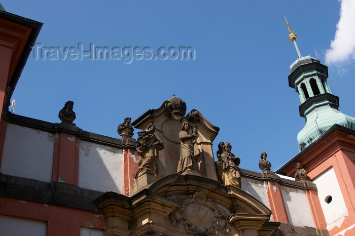 czech381: Czech Republic - Príbram: Svata Hora - Virgin mary - decoration above a gate - photo by H.Olarte - (c) Travel-Images.com - Stock Photography agency - Image Bank
