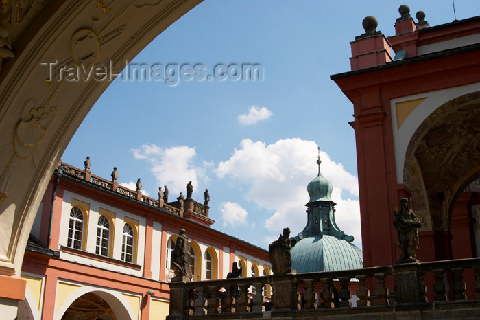 czech386: Czech Republic - Príbram: Svata Hora - on the courtyard - cloister - photo by H.Olarte - (c) Travel-Images.com - Stock Photography agency - Image Bank