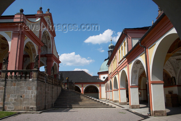 czech389: Czech Republic - Príbram: Svata Hora - church and cloister - run by the Redemptorists - oldest and most important Marian place of pilgrimage in the Czech Republic - photo by H.Olarte - (c) Travel-Images.com - Stock Photography agency - Image Bank
