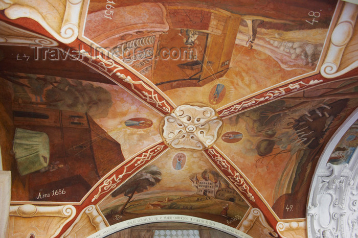 czech390: Czech Republic - Príbram: Svata Hora - ceiling decoration - photo by H.Olarte - (c) Travel-Images.com - Stock Photography agency - Image Bank