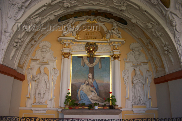 czech391: Czech Republic - Príbram: Svata Hora - Svata Hora, the 'Holy Mountain' a catholic pilgrimage site - niche - 'mater dolurum' - a  mother's pain - photo by H.Olarte - (c) Travel-Images.com - Stock Photography agency - Image Bank
