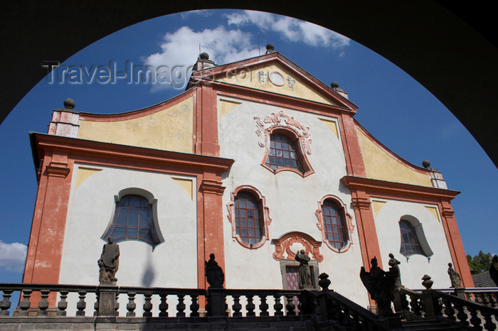 czech394: Czech Republic - Príbram: Svata Hora - Provost Church of the Assumption of Our Lady - Marian basilica - architect Carlo Lurago - photo by H.Olarte - (c) Travel-Images.com - Stock Photography agency - Image Bank
