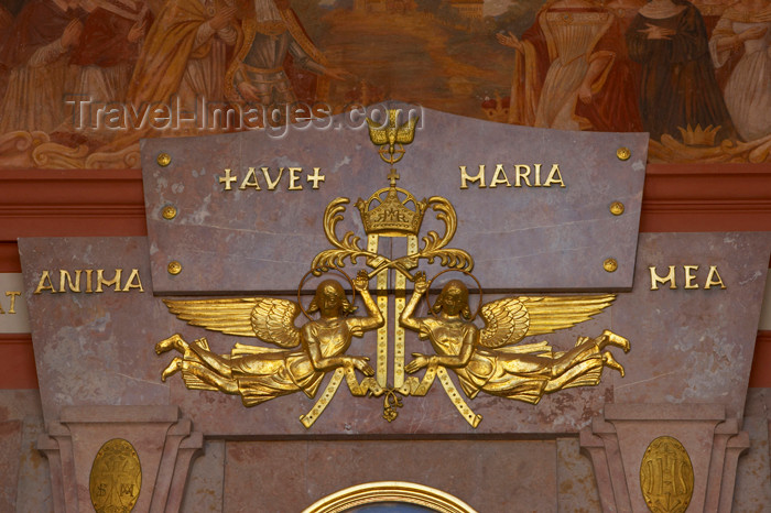 czech399: Czech Republic - Príbram: Svata Hora - angels - 'ave Maria' - photo by H.Olarte - (c) Travel-Images.com - Stock Photography agency - Image Bank
